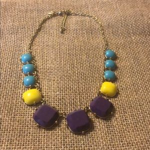 Purple, yellow, turquoise necklace!